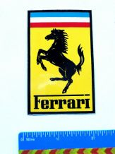 FERRARI sticker/badge , 1980s, approx 2x3 inch (50x75mm) Unused decal/sticker